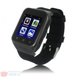 "Ceas si Telefon GSM 3G WCDMA Smart Watch Android 4.4 Dual Core 512 MB RAM 4GB ROM 8G TF GPS WiFi 1.54"" model ZGPAX S8"