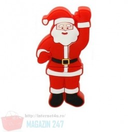 Stick Memorie Flash Drive USB 2.0 model in forma de Mos Craciun Cadou Sarbatori Christmas Santa Gift