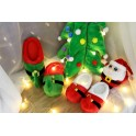 Papuci de Casa Mos Craciun Sarbatori Iarna Winter Christmas Santa Elf Red Green Bell Slippers