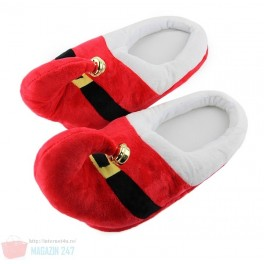 Papuci de Casa Mos Craciun Sarbatori Iarna Winter Christmas Santa Elf Red Green Slippers