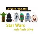 Stick Memorie Flash Drive USB in forma personajelor Star Wars Darth-Vader Yoda Storm-Trooper Boba-Fett R2-D2 BB-8