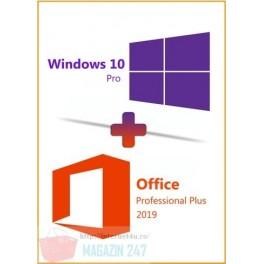 Promotie Pachet Licente Microsoft Windows 10 Pro si Office 2019 Pro Plus Retail