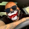 Masca de protectie reutilizabila lavabila model Joker Smile cu filtru PM2.5 Cadou Fashion Mask