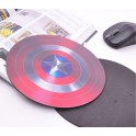 Mouse Pad model Captain America Shield - Gratis cu orice mouse cumparat !