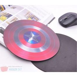 Mouse Pad model Captain America Shield - Gratis cu orice mouse cumparat !