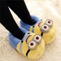 Papuci de Casa din Plush model Minions Shoes Slippers
