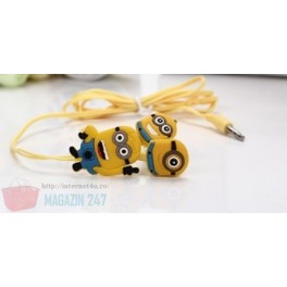 Casti cu fir model Minions Headphones