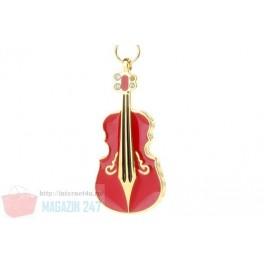 Stick Memorie Flash Drive USB 2.0 model Red Violin - Instrument Muzical Vioara