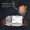 Ceas Bricheta Electronica cu Incarcare USB Model Cadran Dreptunghiular Electronic Cigarette Lighter Usb Quartz Watch Sports