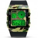 Ceas LED Sport Fashion Military Digital, culoare camo