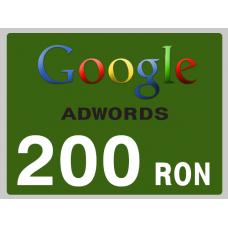 Campanie Publicitara Google AdWords Cadou Voucher 200 lei pentru Magazin Online WebSite Ecommerce